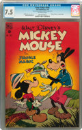 Golden Age (1938-1955):Funny Animal, Four Color #181 Mickey Mouse in Jungle Magic (Dell, 1948) CGC VF-7.5 Off-white pages....