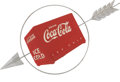 Advertising:Signs, Coca Cola: 1940 Arrow Sign...