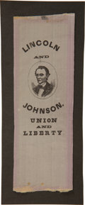 Political:Ribbons & Badges, Abraham Lincoln: Choice 1864 Campaign Ribbon. ...