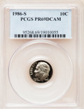Proof Roosevelt Dimes: , 1986-S 10C PR69 Deep Cameo PCGS. PCGS Population (2671/147). NGCCensus: (259/53). Numismedia Wsl. Price for problem free ...