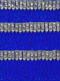 ARMAN (French/American, 1928-2005) Tubes no. 12, 2002 Synthetic resin on canvas laid on board 32