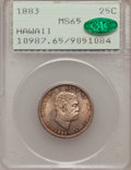 Coins of Hawaii: , 1883 25C Hawaii Quarter MS65 PCGS. CAC. PCGS Population (155/93).NGC Census: (135/103). Mintage: 500,000. (#10987)...