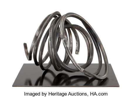 BERNAR VENET (French, b. 1941)Two Indeterminate Lines, 2004Steel13-1/2 x 21-1/2 x 17-1/2 inches (34.3 x 54.6 x 44....