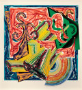 Prints:Contemporary, FRANK STELLA (American, b. 1936). The Butcher came and slew theOx, pl. 8 (from Illustrations after El Lissitzky'sHad...