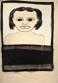 MARGARET KILGALLEN (American, 1967-2001) Untitled Mixed media on paper 68 x 48 inches (172.7 x 12