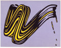 Prints:Contemporary, ROY LICHTENSTEIN (American, 1923-1997). Brushstroke, 1965.Color screenprint. 23 x 29 inches (58.4 x 73.7 cm). Ed. 11/28...