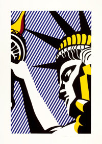 ROY LICHTENSTEIN (American, 1923-1997) I love liberty, 1982 Color silkscreen 32-3/8 x 21-1/8 inch