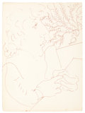 Post-War & Contemporary:Pop, DAVID HOCKNEY (British, b. 1937). Untitled. Ink on paper. 13x 9-5/8 inches (33.0 x 24.4 cm). ...