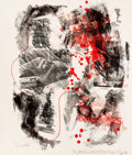 Prints, ROBERT RAUSCHENBERG (American, 1925-2008). Love zone (from Reels b + c), 1968. Color lithograph. 27 x 23 inches (68.6 x ...