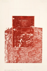 ROBERT RAUSCHENBERG (American, 1925-2008) Untitled, 1979 Color lithograph 18-5/8 x 13 inches (47