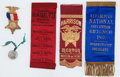 Political:Ribbons & Badges, Benjamin Harrison: Terrific Assortment of Campaign Items.... (Total: 5 Items)