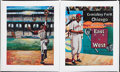 Baseball Collectibles:Others, Buck O'Neil Hand Embellished Giclee Canvas Prints Lot Of 2....