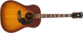 Musical Instruments:Acoustic Guitars, 1960's Gibson J160E Sunburst Acoustic Guitar, #NA. ...