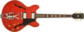 Musical Instruments:Electric Guitars, 1973 Gretsch ES-335 Cherry Hollow-Body Electric Guitar, #50153. ...