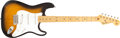 Musical Instruments:Electric Guitars, 1986 Fender 1957 Reissue Stratocaster Sunburst Electric Guitar,#V019608. ...