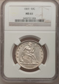 Seated Half Dollars: , 1869 50C MS61 NGC. NGC Census: (9/27). PCGS Population (9/43).Mintage: 795,300. Numismedia Wsl. Price for problem free NGC...