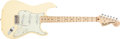 Musical Instruments:Electric Guitars, 2005 Fender Malmsteen Stratocaster Cream Solid Body ElectricGuitar, #SZ5186086....