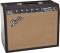 Musical Instruments:Amplifiers, PA, & Effects, 1966 Fender Princeton Reverb Black Tube Amplifier #A12465....