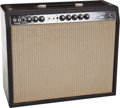 Musical Instruments:Amplifiers, PA, & Effects, 1963 Fender Vibrolux Black Tube Amplifier #800101....