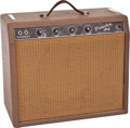 Musical Instruments:Amplifiers, PA, & Effects, 1962 Fender Princeton Brown Tube Amplifier #E03880....