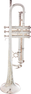 Musical Instruments:Horns & Wind Instruments, Circa 1933 King Silver Tone Made by The H.N. White Trumpet, #159611....