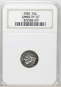 Proof Roosevelt Dimes: , 1955 10C PR67 Cameo NGC. NGC Census: (115/183). PCGS Population(144/46). (#85230)...
