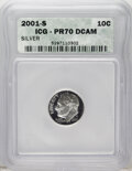 Proof Roosevelt Dimes: , 2001-S 10C Silver PR70 Deep Cameo ICG. PCGS Population (65/0).Numismedia Wsl. Price: $70. (#95293)...