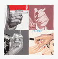Prints, JULIA JACQUETTE (American, b. 1964). Untitled (Men's Hands, Smoking), 2000. Print. 7 x 7 inches (17.8 x 17.8 cm). Ed. 45...