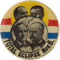 "Political:Pinback Buttons (1896-present), William Jennings Bryan: Full-Color Bryan & Stevenson Jugate ""Eclipse"" Button...."