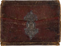 Political:3D & Other Display (pre-1896), George Abbott Hall: Leather Wallet 1762....