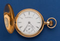 Timepieces:Pocket (pre 1900) , Waltham Model 88 Heavy 14k Gold Riverside Hunters Case. ...