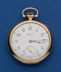 Timepieces:Pocket (post 1900), Howard 14k Gold 17 Jewel 12 Size. ...