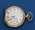 Timepieces:Pocket (post 1900), Zenith 49 mm 14k Gold Hunters Case. ...