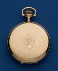 Timepieces:Pocket (post 1900), Waltham Sharp 14k 12 Size Hunters Case. ...