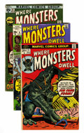 Bronze Age (1970-1979):Horror, Where Monsters Dwell Group (Marvel, 1970-75) Condition: AverageVG-.... (Total: 55 Comic Books)