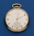 Timepieces:Pocket (post 1900), Hamilton 14k Gold Grade 917. ...