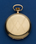 Timepieces:Pocket (post 1900), Swiss 14k 50 mm Hunters Case. ...