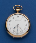 Timepieces:Pocket (post 1900), Swiss 14k Gold Watch For Henry Birks & Sons. ...
