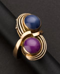 Estate Jewelry:Rings, Star Sapphire & Ruby Ring. ...