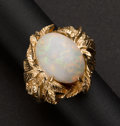 Estate Jewelry:Rings, Very Fine Opal & Gold Ring. ...