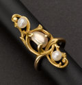 Estate Jewelry:Rings, Gold & Pearl Art Nouveau Ring. ...