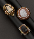 Estate Jewelry:Rings, Three Antique Cameo Rings. ... (Total: 3 Items)
