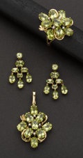 Estate Jewelry:Suites, Peridot Jewelry Suite. ... (Total: 4 Items)