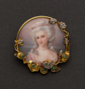 Estate Jewelry:Brooches - Pins, Rare Golay Fils & Stahl Geneve Gold & Enamel Portrait Pin. ...
