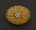 Estate Jewelry:Brooches - Pins, Diamond & 18k Gold Pin. ...