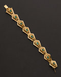 Estate Jewelry:Bracelets, Emerald & 18k Gold Bracelet. ...