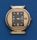 Timepieces:Wristwatch, LeCoultre 14k Gold With Unusual Dial. ...