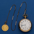 Timepieces:Pocket (post 1900), Hampden 21 Jewel Two Tone Special Railway With ORT Fob. ...