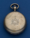 Timepieces:Pocket (pre 1900) , Waltham 18 Size Model 57 Key Wind Nickel Case Pocket Watch. ...