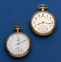 Timepieces:Pocket (post 1900), Two South Bend 16 Size Pocket Watches Runners. ... (Total: 2 Items)